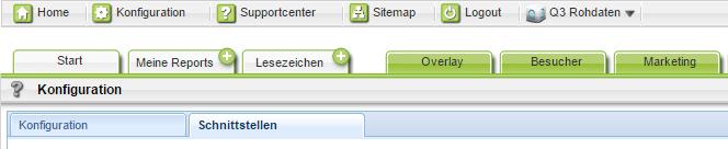 Schnittstellen Konfiguration in Webtrekk