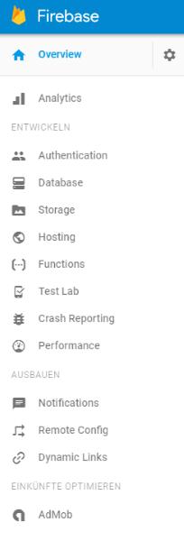 Firebase App Entwicklung Möglichkeiten